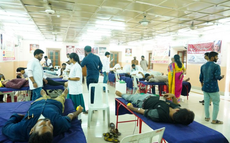 Milad Committee, Hyderabad supported TSCS to conduct blood donation camps at Central Library