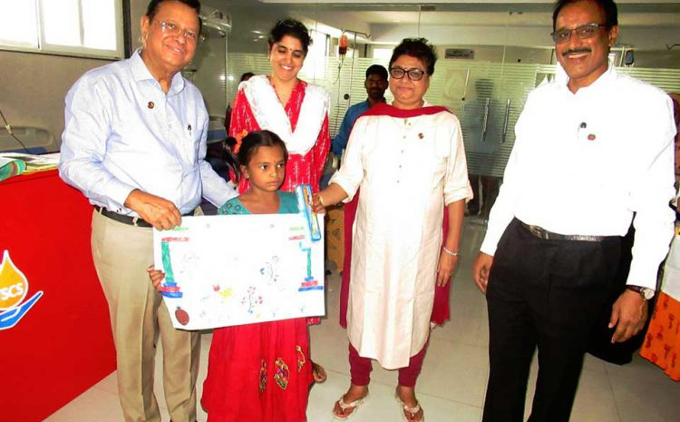 Thalassemia and Sickle Cell Society has organized a drawing competition for thalassemia children.