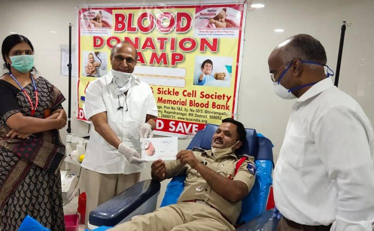 Honorable Sri Justice Challa Kodanda Ram, High court and team donated blood to Thalassemia children at TSCS