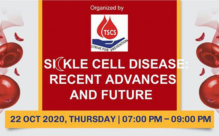 """Thalassemia and Sickle Cell Society organizing International Webinar on """"Sickle Cell Disease: Recent Advances and Future"""""""